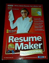 Individual Software Resume Maker Professional Version 18 Deluxe Windows - $11.26