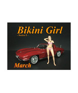 March Bikini Calendar Girl Figure for 1/18 Scale Models by American Diorama - $17.14
