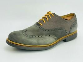 Cole Haan Men's Great Jones Wingtip Oxford Gray Suede Size 11.5D - $108.89