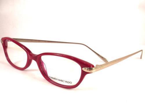 Carmen Marc Valvo Stella Sangria Red Eyeglasses 51-17-137 Plastic Frames new - $58.41