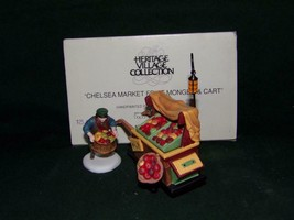Dept. 56 Chelsea Market Fruit Monger & Cart Set of 2 Dickens Village-MIB - $17.82