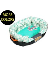 Floral-Galore Ultra-Plush Rectangular Rounded Designer Fashion Pet Dog B... - $52.49+