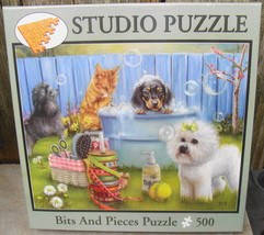 Studio Bits and Pieces Puzzle 500 pcs Dog Bathing - $18.00