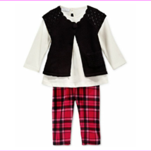 First Impressions Baby Girls' 3-Piece Shrug,Tunic&Plaid Leggings,Size 18 M,$52. - $9.90