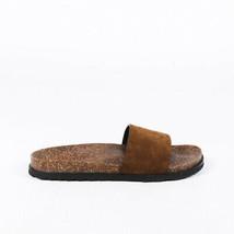 Saint Laurent Suede Slide Sandals SZ 40 - $435.00