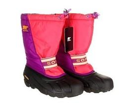 Sorel Womens Pink And Purple Waterproof Winter Waterproof Boots Black 7 New - $82.79