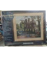 """Dimensions  Paint Works  THREE FIGHTING MEN Memorial Paint By Number 18 """"X 16""""   - $39.58"""