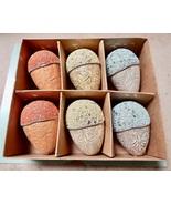 "Easter Spring Handmade Wooden 3"" Beaded Eggs 6 Each NIB Table Decor 201L - $18.99"
