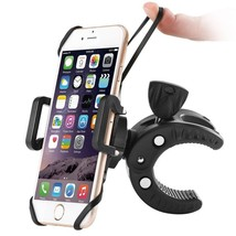 Motorcycle Bicycle Handlebar Holder Rotatable Cell Phone Mount Black Uni... - $25.10
