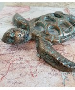 Cast Iron Sea Turtle Home Decor Coastal Nautical Collectible  - £9.46 GBP