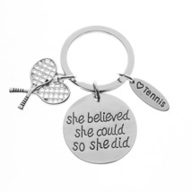 Tennis She Believed She Could So She Did Keychain - $9.99