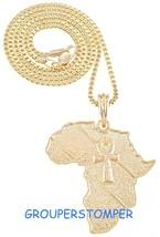 Ankh Auf Afrika Neu Anhänger Halskette Mit 61cm 2mm Breit Kiste Link Kette - $14.16