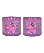 Bath & Body Works White Lavender & Eucalyptus 3 Wick Candle - x2  - $62.50
