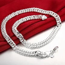 Men's Miami Cuban Link Chain and Bracelet 14k Gold Plated StainlessSteel... - $12.73