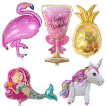 Birthday Balloons Flamingo/Pineapple/Mermaid Foil Ballons Birthday Decor... - €1,51 EUR+