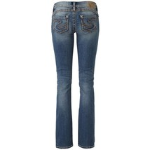 "WOMENS SILVER JEANS Tuesday Slim 16.5"" Bootcut Stretch Jean PETITE 6PS 6... - $24.97"