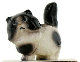 Black Harlequin Persian Ceramic Cat Figurine - Miniatures by Hagen-Renak... - $9.29