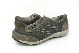 Dansko Womens 6.5-7 Hayes Sneakers Gray Lace Up Low Top Mesh Leather Shoes EU 37 - $26.99