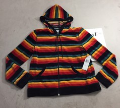 Jones new york Hoodie Full Zip Jacket Women's Rainbow Size Large NWT - Q401 - $32.71