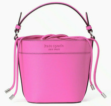 NWT Kate Spade Cameron Small Bucket Bag Pink Leather WKRU6734 Shoulder FS - $168.84