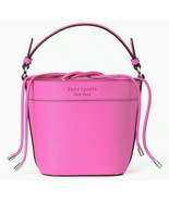 NWT Kate Spade Cameron Small Bucket Bag Pink Leather WKRU6734 Shoulder FS - $168.79