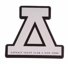 """Asphalt Yacht Club Logo 4"""" White Sticker"""