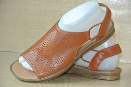 Clarks Womens Sz 8.5 M Brown Cut Out Leather Slingback Slides Sandals NI... - $22.76