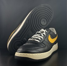 2003 Nike Air Force 1 Low LE Black Gold Steelers 306353-071 Men's Size 13 - $89.09