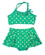 Girls Swimwear Two Piece Swimsuits of Kids Green, 140 cm (2.5-4 Years)