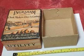 Vintage Ingraham Utility Alarm Clock Paper Box Container image 3