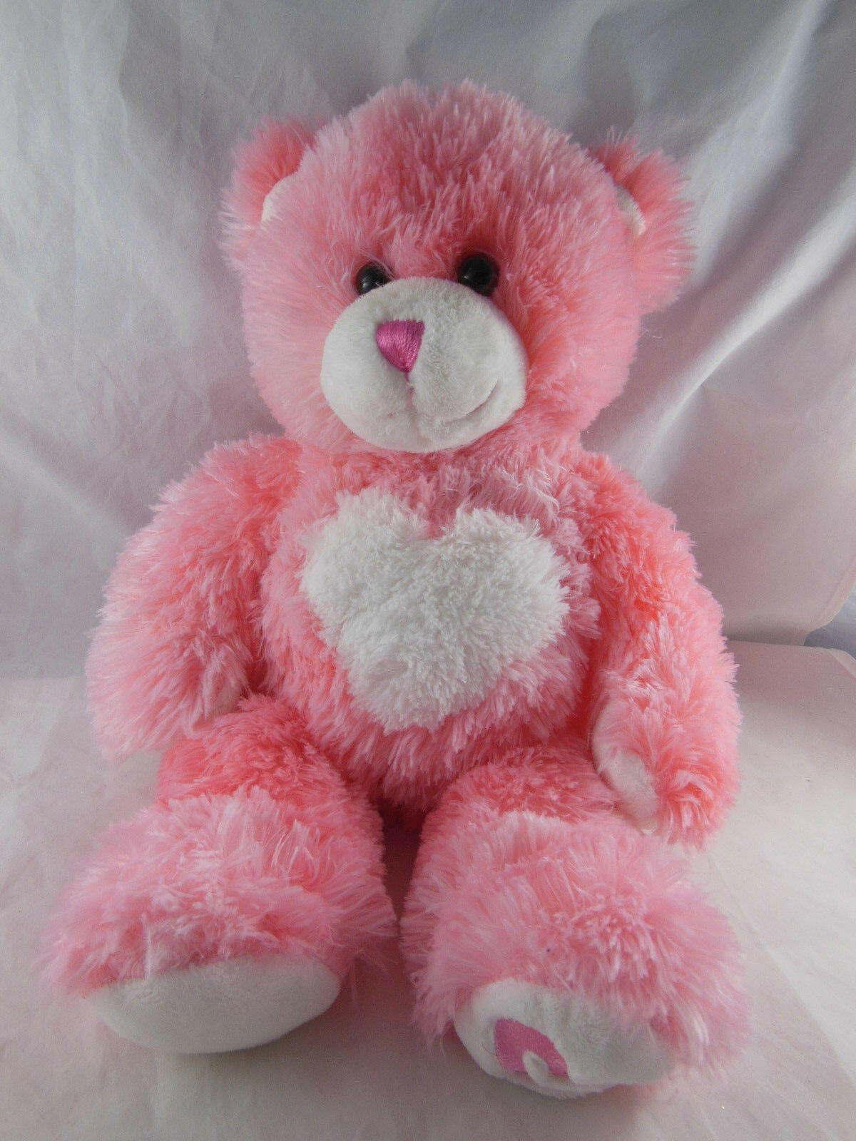 "Primary image for Pink Heart Teddy Bear 16"" Valentine Super soft Build A Bear Magnet Paws praying"