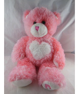 "Pink Heart Teddy Bear 16"" Valentine Super soft Build A Bear Magnet Paws ... - $14.84"