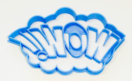 Wow Sign Quote Superhero Comic Book Cookie Cutter USA PR3201 - $2.99