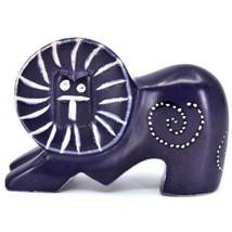 Crafts Caravan Hand Carved Soapstone Purple Lion Figurine Made in Kenya image 1