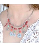 Coins Necklace, Lucky Coins Necklace, Bohemian Necklace, Bib Necklace (391) - $22.00