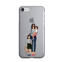 Cute Fashion Travel map Girl infant & mom Phone Case For iPhone X 10 7 8 15 - $14.00