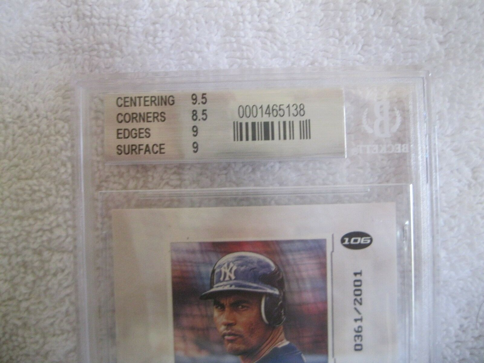 Brian Lawrence RC 2001 Fleer Rookie #598/2001 GRADED GEM MINT BGS 9.5-Padres RC image 5
