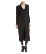 NWT CATHERINE MALANDRINO LONG BLACK CARDIGAN  SIZE L SIZE XL $129 - $34.53