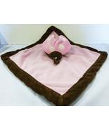 Tiddliwinks lovey girls security blanket pink ladybag plush - $11.88