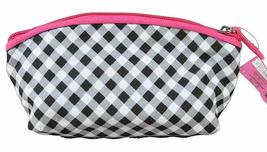 Hello Kitty Sanrio Gingham Bow Cosmetic Case Makeup Pouch Accessory Bag NEW image 3