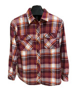 Duluth Trading Flannel Tunic Shirt 1X Burgundy Plaid Buttons Vented Long... - $25.06
