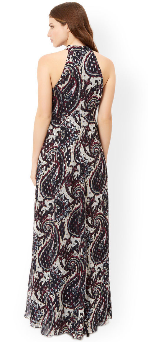 MONSOON Piper Priority Silk Mix Maxi Dress BNWT