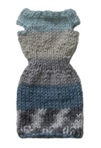 Barbie Doll Clothes Knit Alpaca Blend Multi-Color Sweater Dress Handmade - $6.99