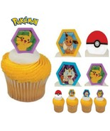 Pokemon Pikachu Party CUPCAKE Toppers Birthday Decoration Favors Treats ... - $14.80