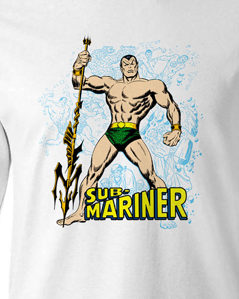 Sub mariner tshirt prince namor t shirt retro vintage comics long white sleeve for sale tee