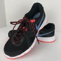 NIKE Revolution 2 Running Sneakers Black Orange Size 9 M  Lace Up 554900... - $49.49
