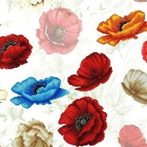 "Bead Embroidery DIY Kit ""Poppy Flowers"" 15.7""x15.7"" - $56.95"