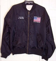 Nordic Army Suppliers Operation Iraqi Freedom Men's Black Bomber Jacket, XXL - $49.99