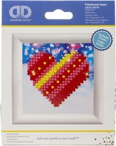 Diamond Dotz Diamond Embroidery Facet Art Kit W/ Frame-Patchwork W/ Whit... - $10.82