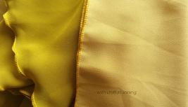 Yellow Rust Maxi Chiffon Skirt Outfit Floor Length Bridesmaid Chiffon Skirt image 7